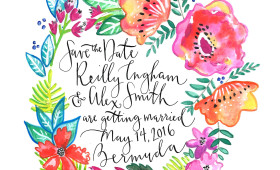 Hello, Bermuda! SAVE THE DATE / TROPICAL FLORA