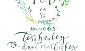 Floral Wreath / SAVE THE DATE