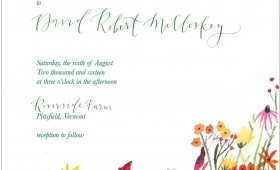 wild flower wedding invitation suite / watercolor
