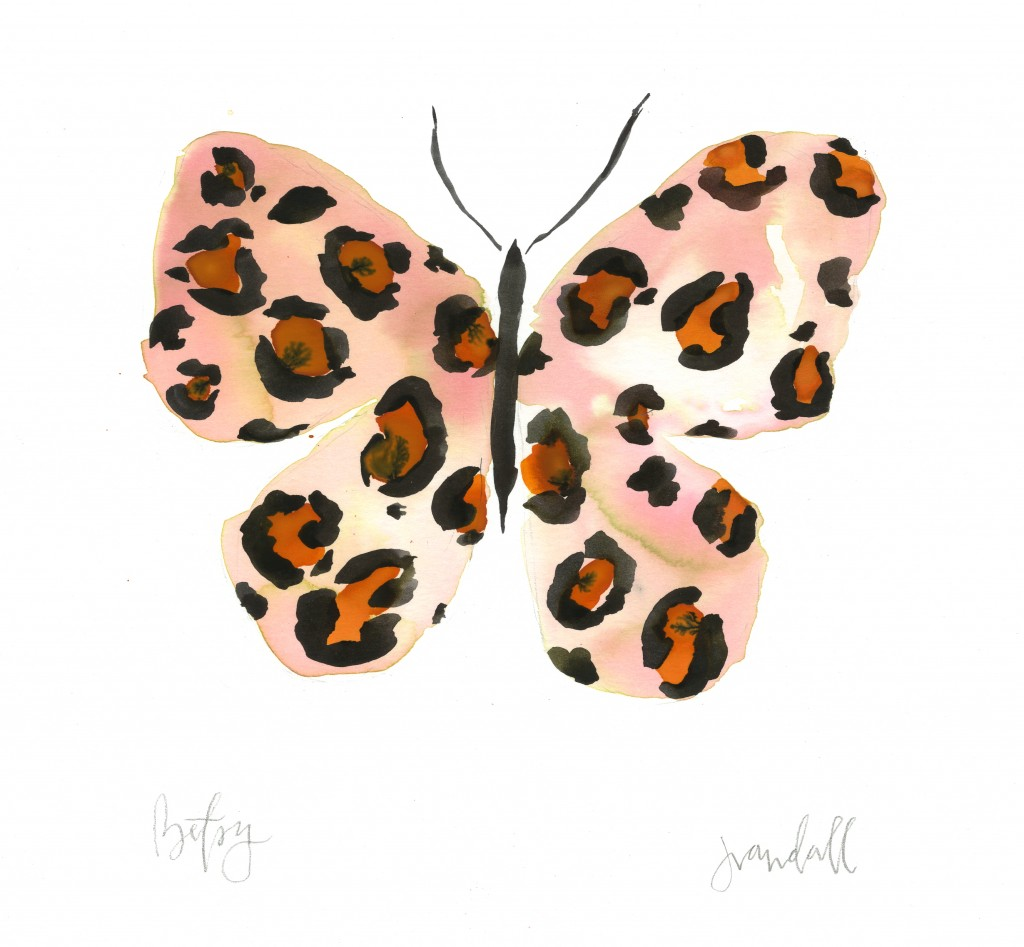 Leopard Watercolor Butterfly