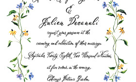 Floral Wedding Invitation | 5×7